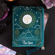 Load image into Gallery viewer, The Sun Zipper Tarot Pouch/Make up Bag/ Purse