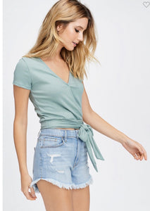 Try Me Out Wrap Top