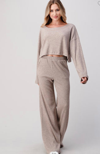 Mocha Soft Wide Leg Pants