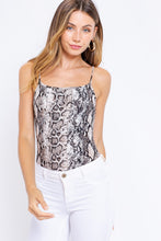 Load image into Gallery viewer, Faux Snakeskin Print Cami Bodysuit