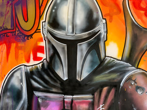 "36"" x 27"" LIMITED Mandalorian Stretched Canvas Print"