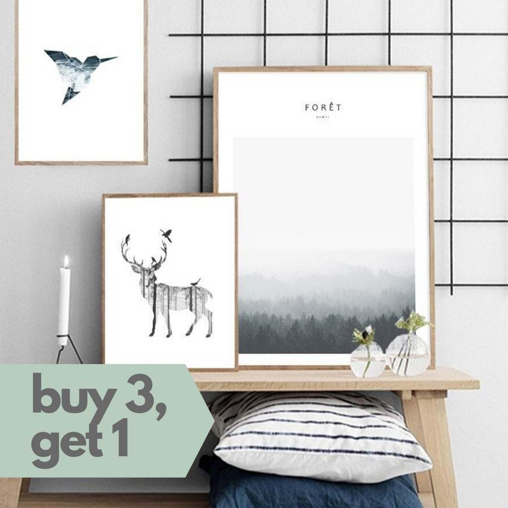 Forest Fauna Canvas Print