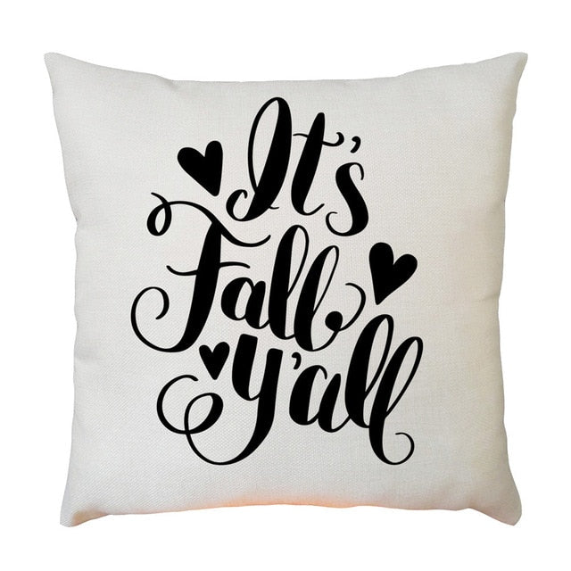 Black + White Fall Cushion Cover