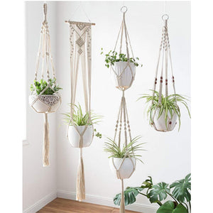 Macrame Flower Pot Hanger Set