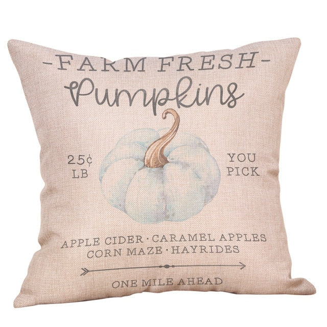 Farm Fresh Pumpkins Cushion Cover