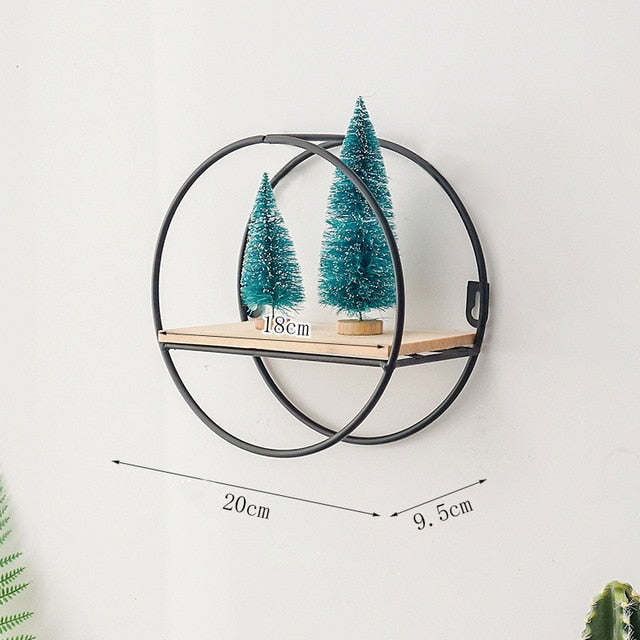 Geometric Decor Wall Shelf