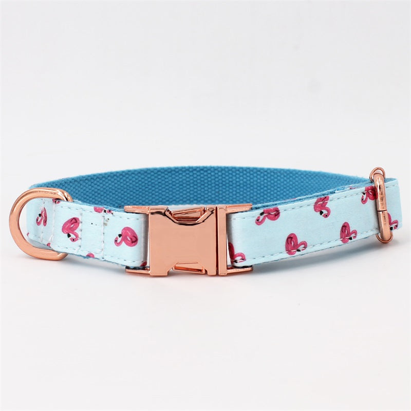 Flamingo Collar + Leash Set