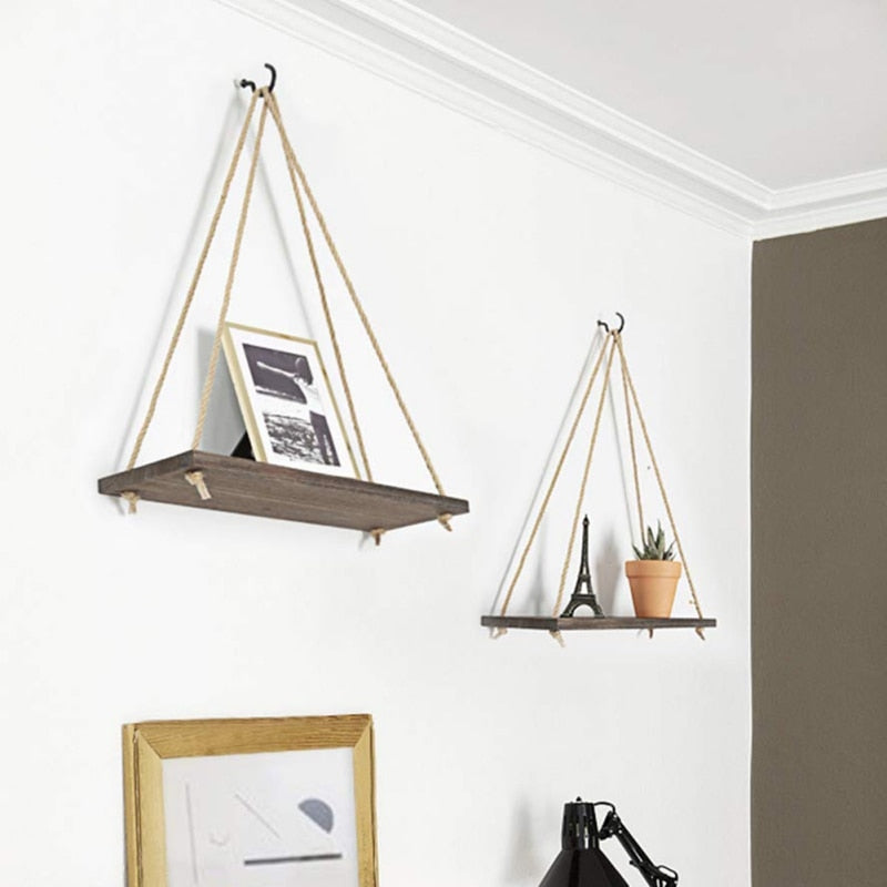 Barn Board Hanging Shelf