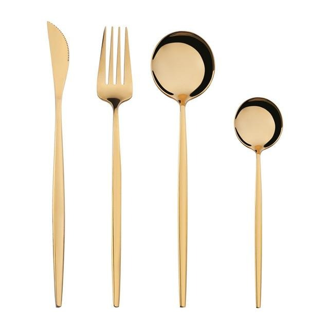 Touch of Gold Flatware Set