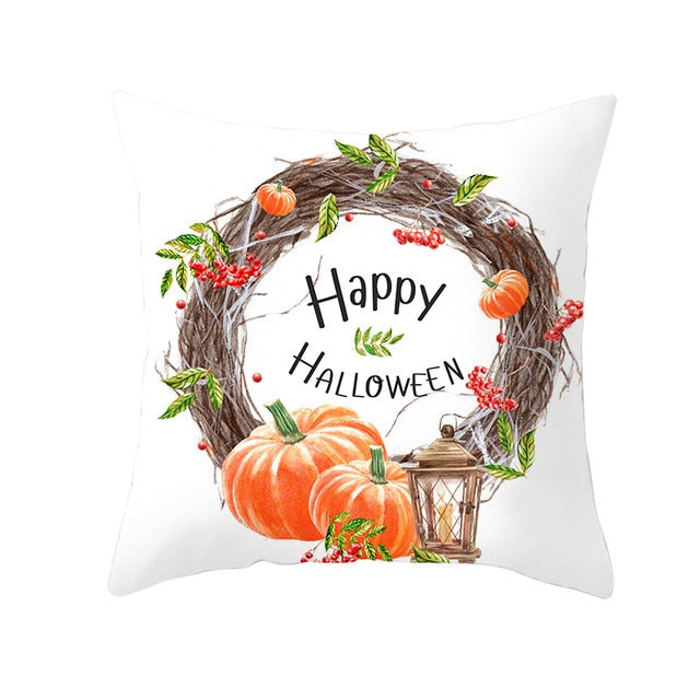Halloween Wreath Cushion Cover