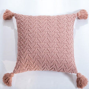 Herringbone Tassel Cushion Cover
