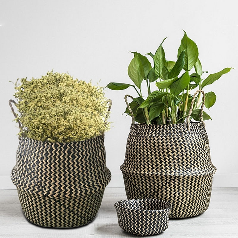 Chevron Seagrass Basket