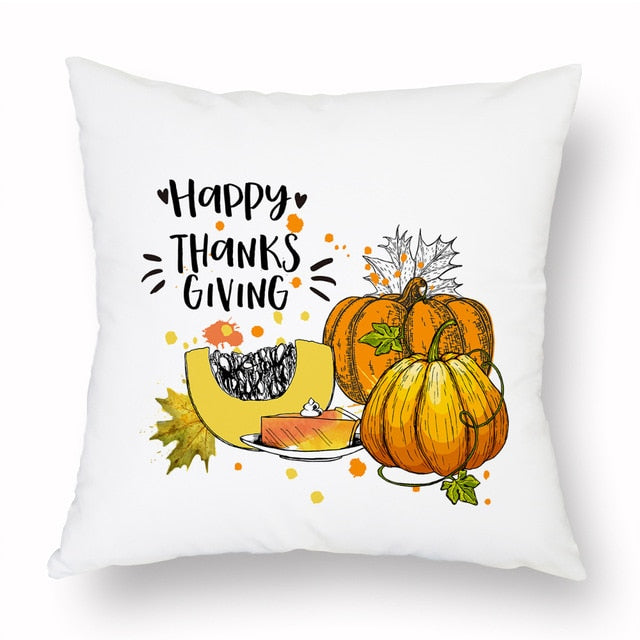 Thanksgiving Squash Cushion Cover