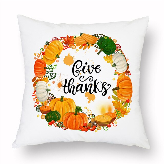 Give Thanks Cushion Cover