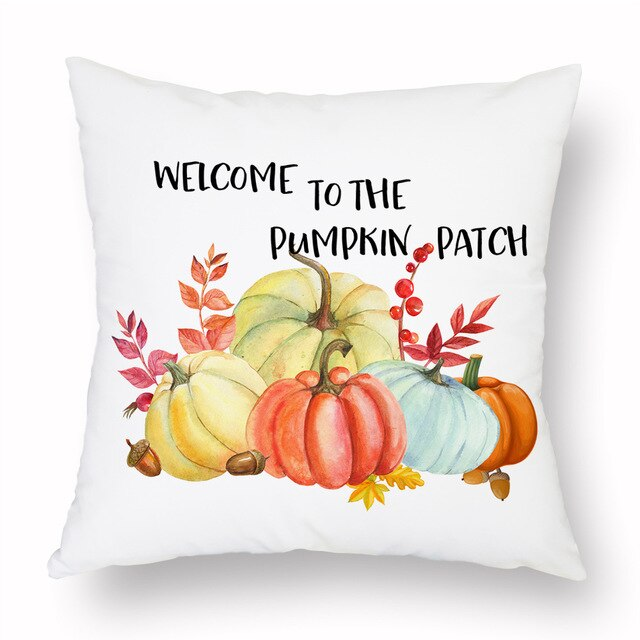 Welcome to the Pumpkin Patch Cushion Cover