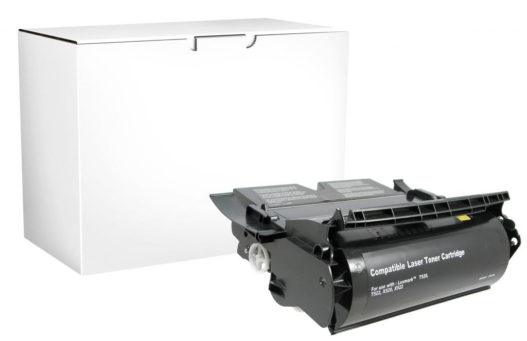 High Yield Toner Cartridge for Lexmark Compliant T520/T522/X522