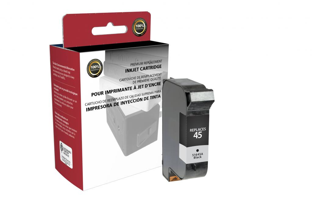 Black Ink Cartridge for HP 51645A (HP 45)