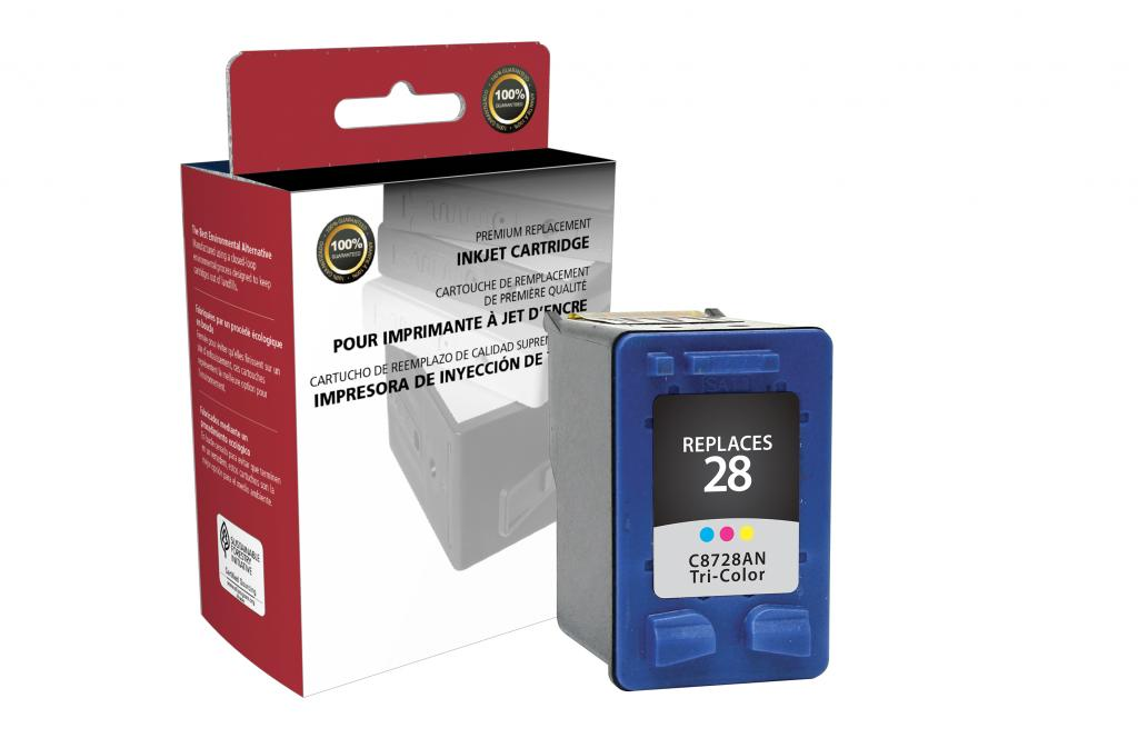 Tri-Color Ink Cartridge for HP C8728AN (HP 28)