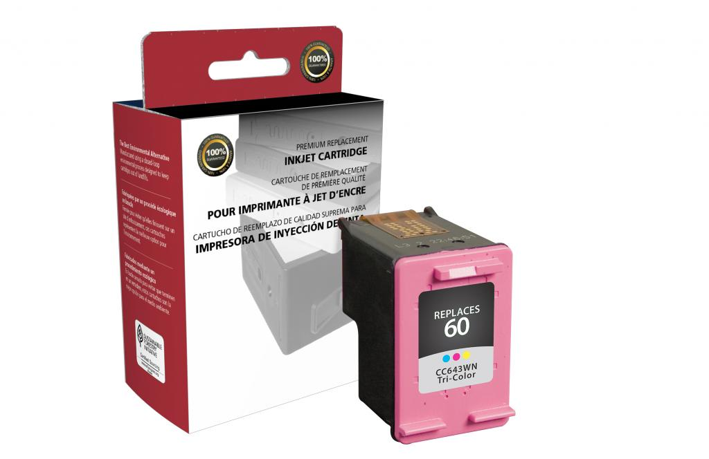 Tri-Color Ink Cartridge for HP CC643WN (HP 60)