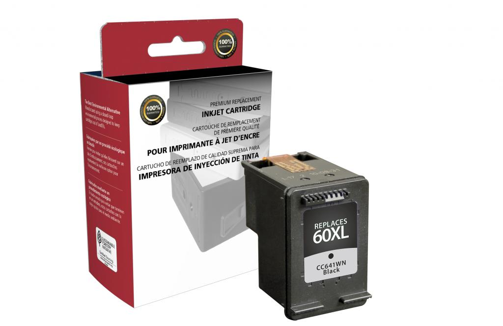 High Yield Black Ink Cartridge for HP CC641WN (HP 60XL)