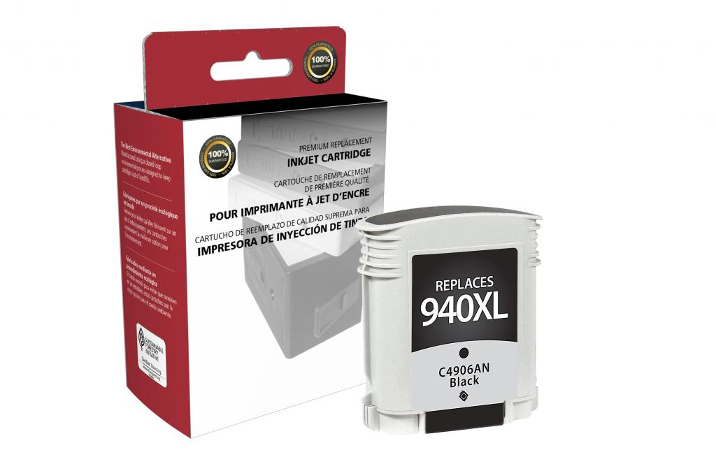 High Yield Black Ink Cartridge for HP C4906AN (HP 940XL)