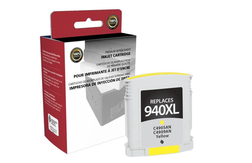 High Yield Yellow Ink Cartridge for HP C4909AN (HP 940XL)