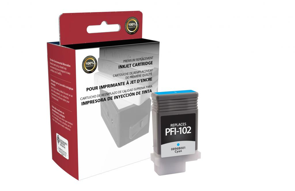 Cyan Ink Cartridge for Canon PFI-102