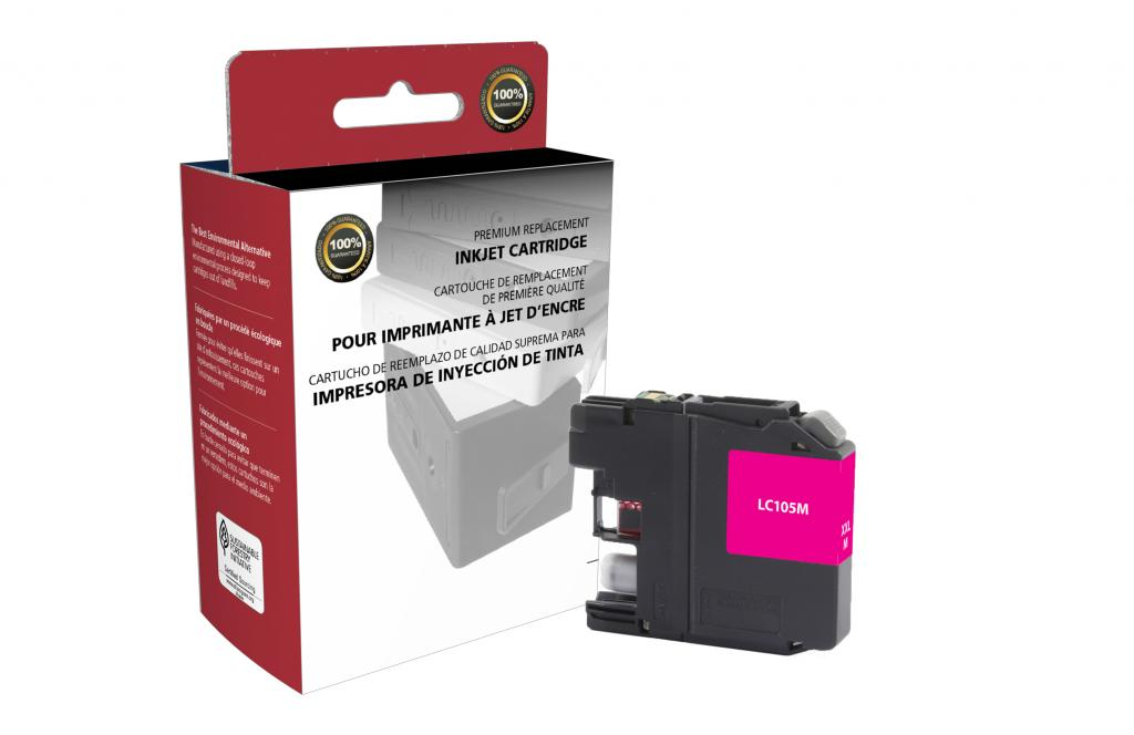 Super High Yield Magenta Ink Cartridge for Brother LC105XXL