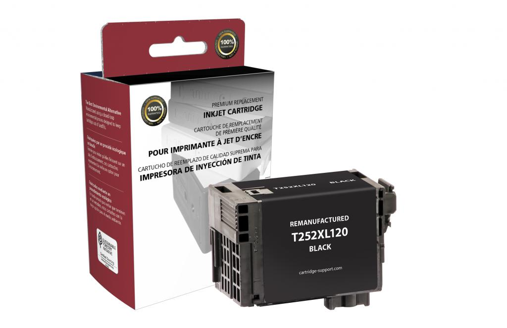 Epson Remanufactured T252XL120 Black High Yield Ink Cartridge
