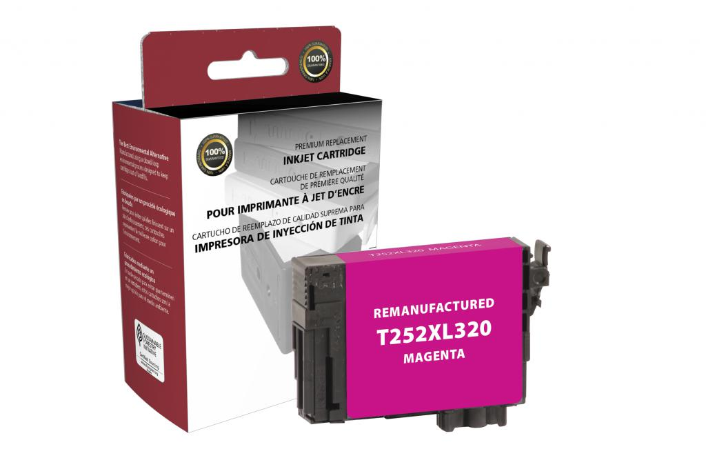 Epson Remanufactured T252XL320 Magenta High Yield Ink Cartridge