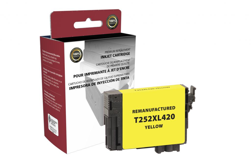 Epson Remanufactured T252XL420 Yellow High Yield Ink Cartridge