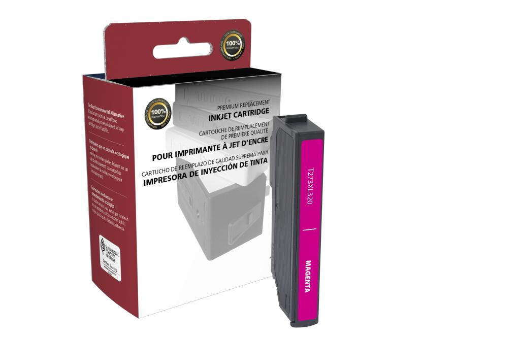 Epson Remanufactured T273XL320 Magenta Black Ink Cartridge