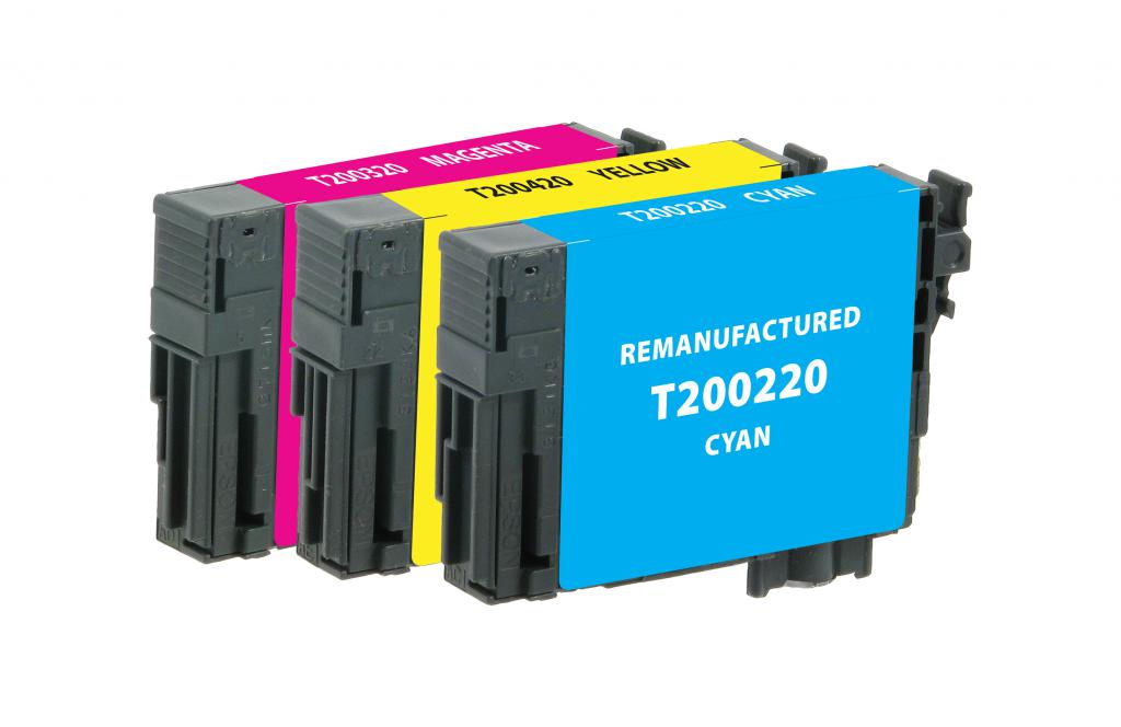Cyan, Magenta, Yellow Ink Cartridges for Epson T200 3-Pack