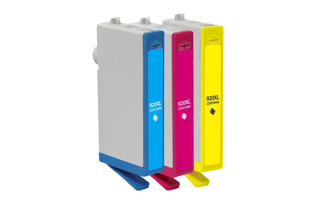 High Yield Cyan, Magenta, Yellow Ink Cartridges for HP 920XL 3-Pack