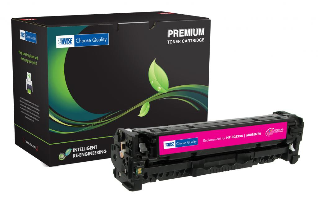 Extended Yield Magenta Toner Cartridge for HP CC533A (HP 304A)