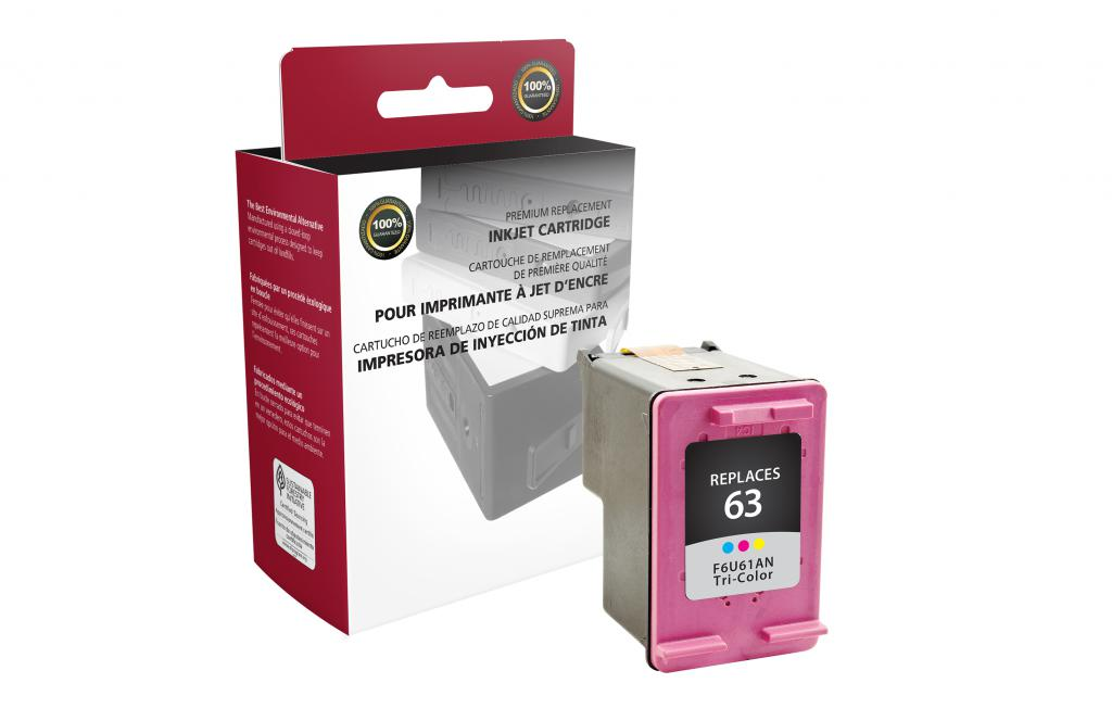 Tri-Color Ink Cartridge for HP F6U61AN (HP 63)