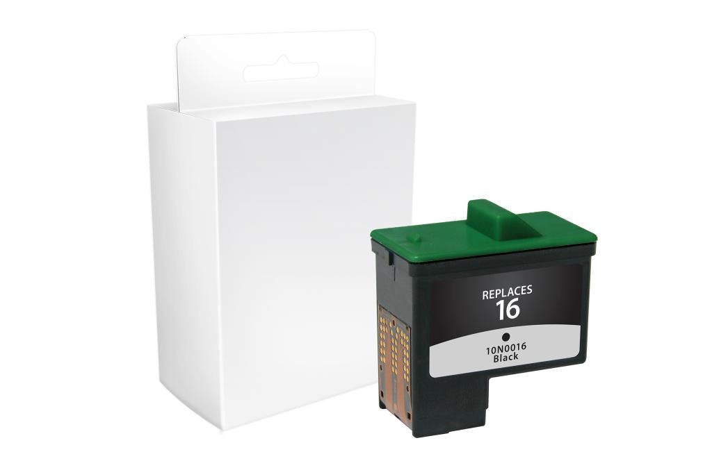 Black Ink Cartridge for Dell Series 1, Lexmark #16/#17, Sharp UXC70B