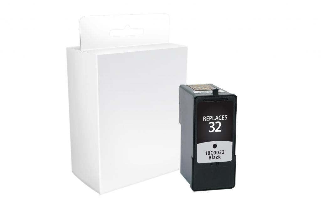 Black Ink Cartridge for Lexmark #32