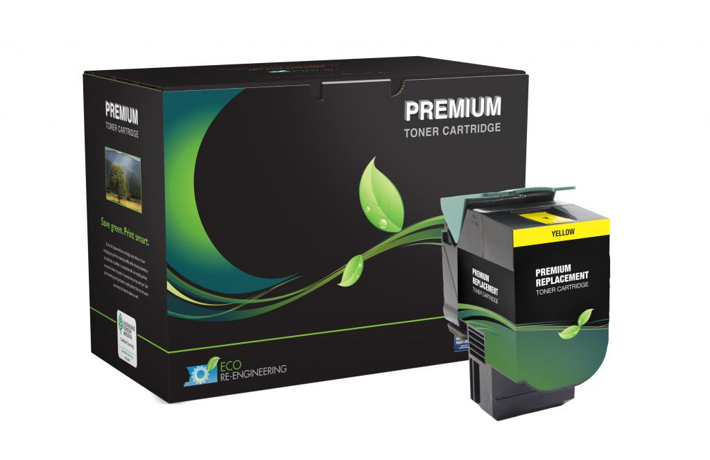 Lexmark 70C0H40 High Yield Yellow Toner Cartridge