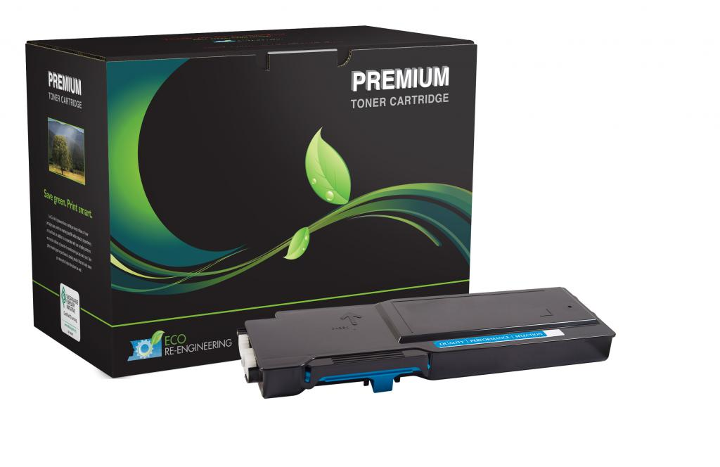 High Yield Cyan Toner Cartridge for Dell C2660