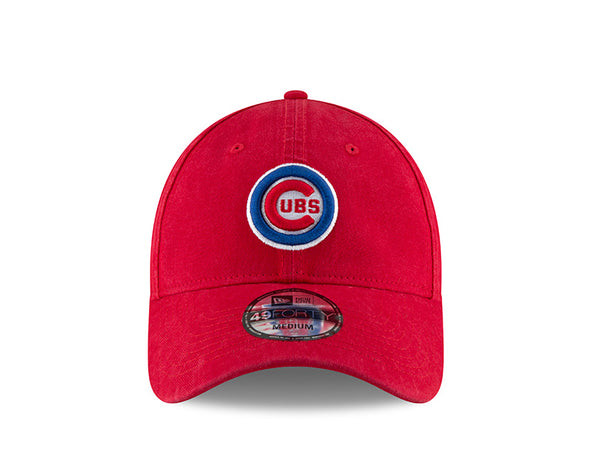 Men's Chicago Cubs Core Fitted Replica Bullseye Cap, Red