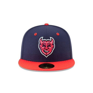 Men's Copa Demonios Official On Field Fitted Cap, Navy/Red