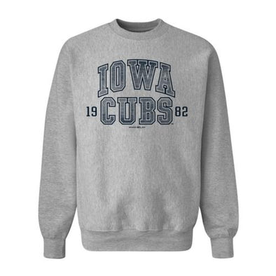 Iowa Cubs ProWeave Crewneck Sweatshirt, Gray Heather