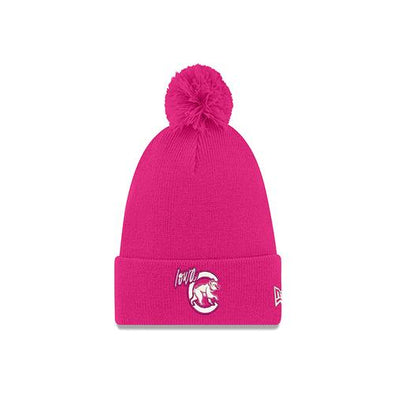 Women's Iowa Cubs Knit Pom, Passion Pink