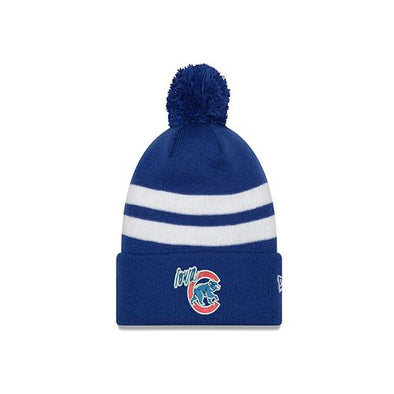 Adult Iowa Cubs Two Tone Topstripe Knit Pom, Royal