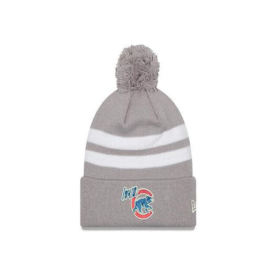 Adult Iowa Cubs Two Tone Topstripe Knit Pom, Gray
