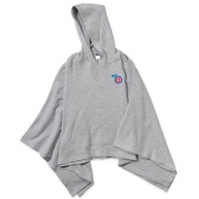 Iowa Cubs Women's Amanda Poncho with Hood, Gray