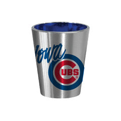 Iowa Cubs Silver/Blue Shot Glass