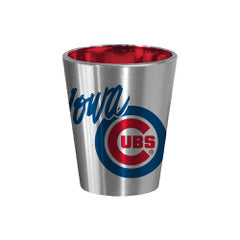 Iowa Cubs Silver/Red Shot Glass