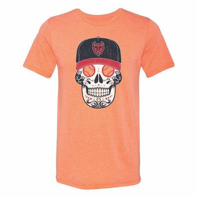 Copa Demonios Sugar Skull Tee, Orange